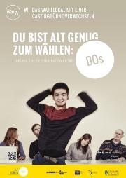 Plakat #1: Das Wahllokal mit einer Castingbühne verwechseln